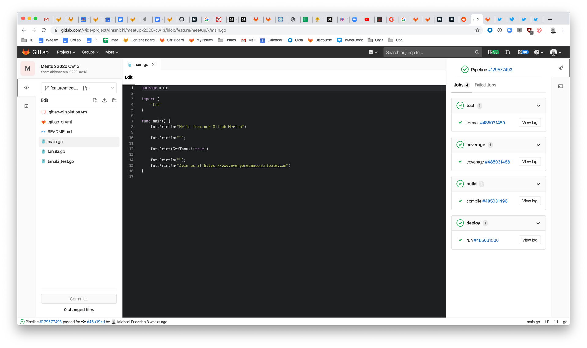 Dark mode for the Web IDE in GitLab